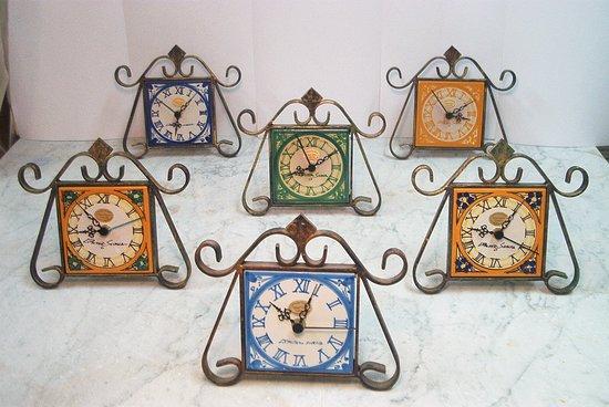 Piastrelle orologi con supporto ceramiche artistiche liborio palmeri