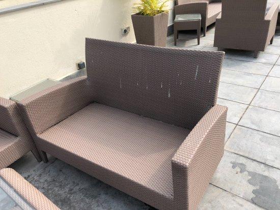 The Leela Raviz Kovalam: Dirty Chairs
