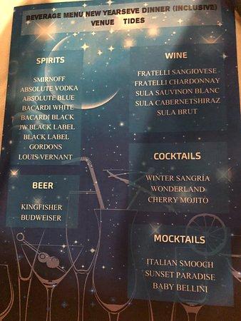 The Leela Raviz Kovalam: New Year Gala Dinner Drinks