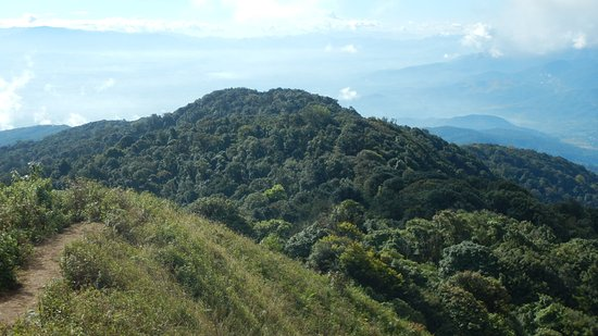 Mae Ai, Thailand: On the summit of Doi Pha Hom Pok (2285)