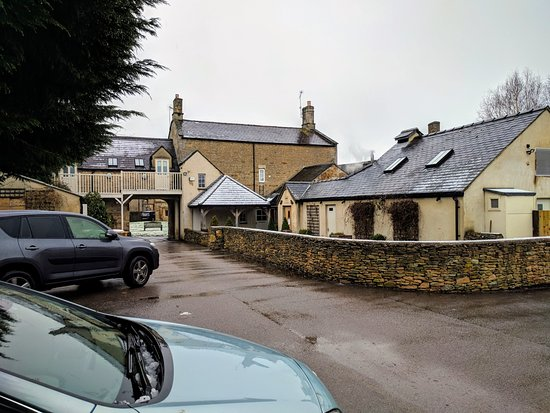 Kingham, UK: View from car park