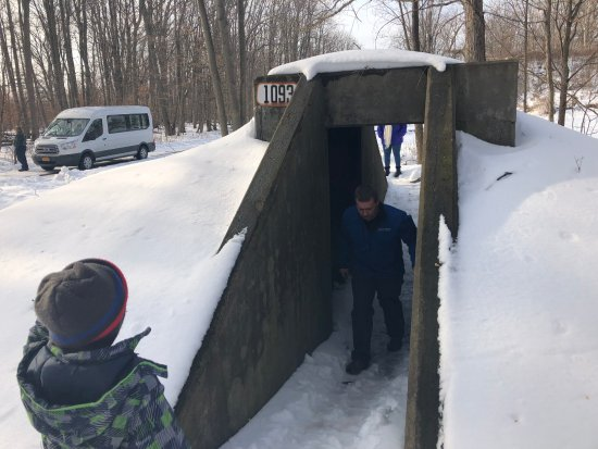 Romulus, NY: One of the bomb shelters we got to check out next to one of the igloos