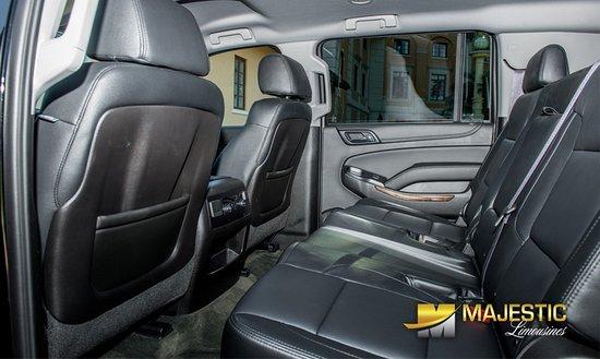 Gray Interior of our Chevrolet Suburban| Luxury Large 4 Door