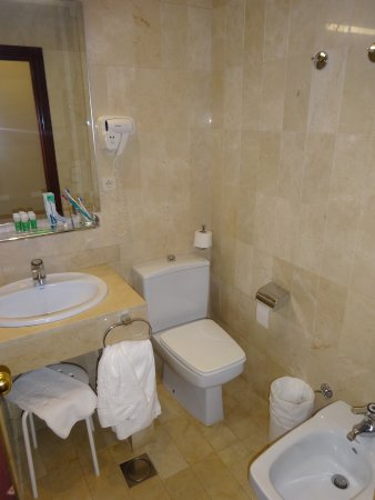 Hotel Derby Sevilla: Small but functional bathroom