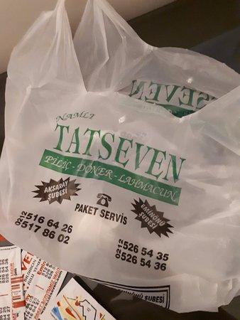 Tatseven Restaurant: Jantar embalado para levar