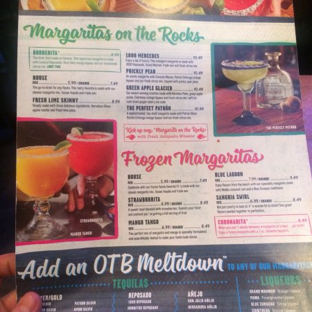 On the Border Mexican Grill: Menu
