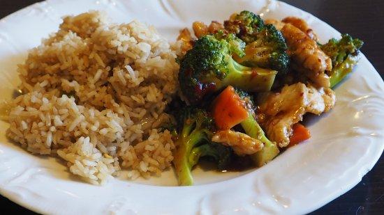 rice kitchen broccoli and chicken spicy - Rice Kitchen