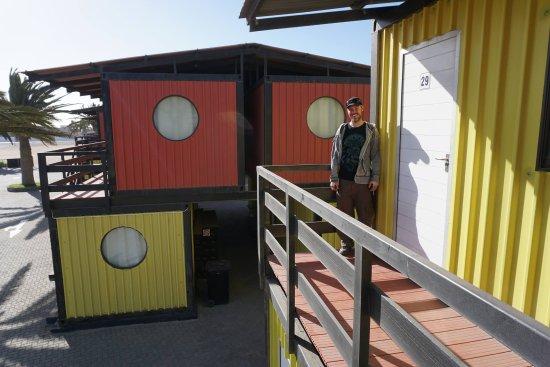 Swakopmund, Namibie : the container rooms