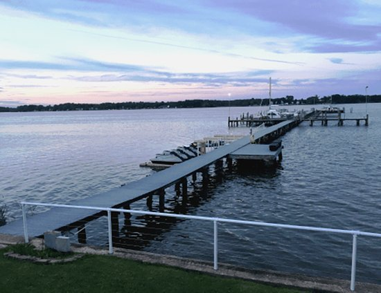 Dundalk, MD: The 600' pier with jet skis and boats