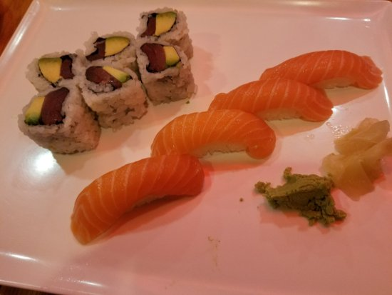 Sushi Palace: Tuna avocado rolls and salmon sushi