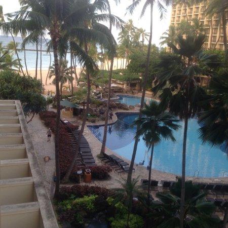 Hilton Hawaiian Village Waikiki Beach Resort: View from our balcony