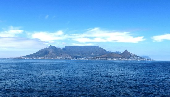 Robben Island: The view from the ferry - unsurpassed Table Mountain view
