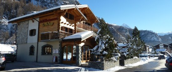 Evolene, Switzerland: Restaurant le Refuge l'hiver
