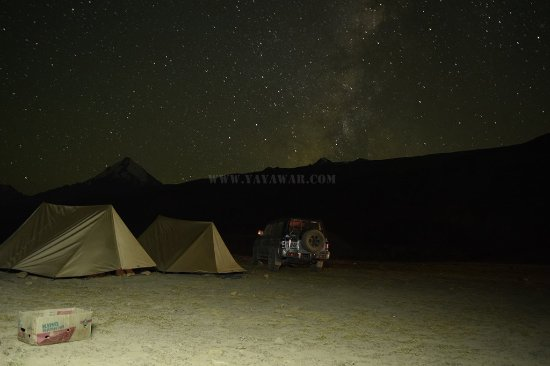 Losar, Indien: Night view