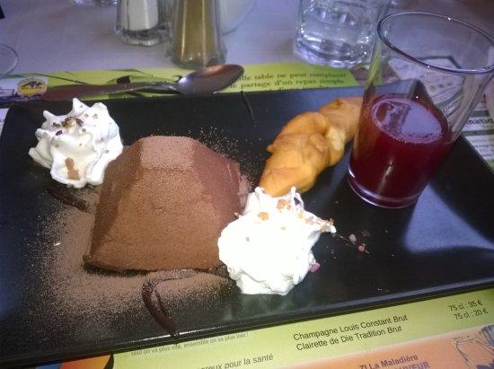 Chatte, França: Mousse de chocolat