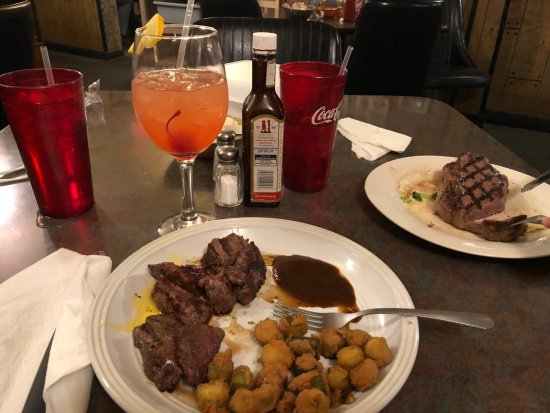Newport, TN: Baby steaks and okra