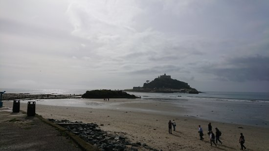St. Michael's Mount: from the carpark on the beach front