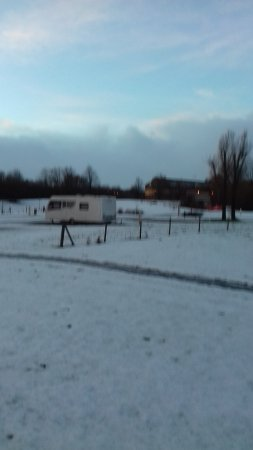 Uddingston, UK: Snow covered pitches