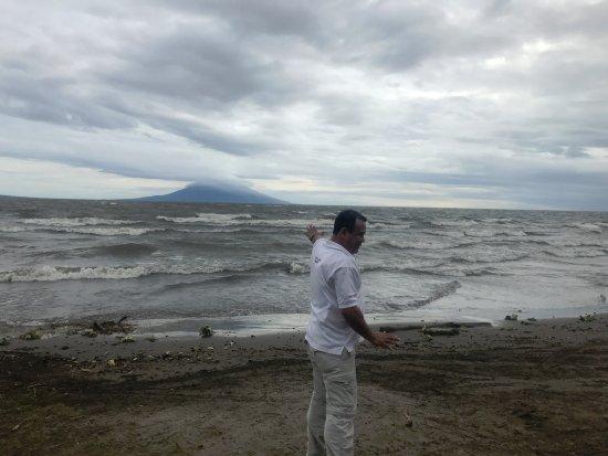 Tico Tours Guanacaste: Nicaragua: Eduardo on shore of Lake Nicaragua.