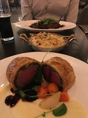 Super Beef Wellington Scallop Potato Side New York Strip Interior Design Ideas Helimdqseriescom