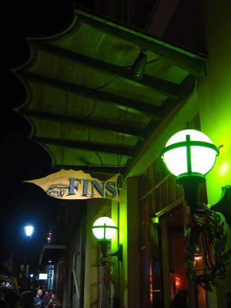 GW Fins, French Quarter - Sign on Bienville St - Picture of GW Fins ...