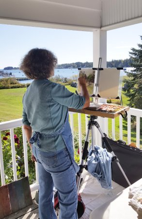 Tenants Harbor, ME: Painting workshop at the inn