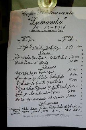 Lumumba: Die Tagesangebote