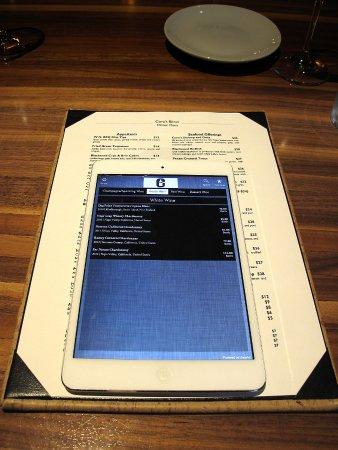 Cora's Restaurant @ The White House, Biloxi - Wine List on Tablet