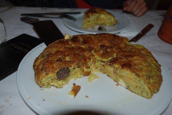 Batsi, Greece: Frutalia omelette