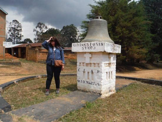 Chitimba, Malawi: Livingstons church bell on the day trip to Livingstonia