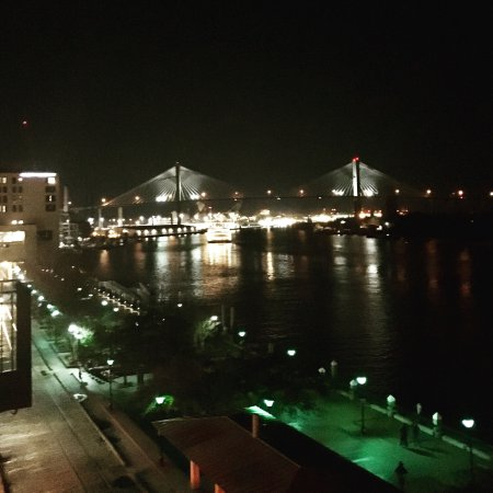 River Street Inn: View of river and Talmadge Bridge from our balcony.