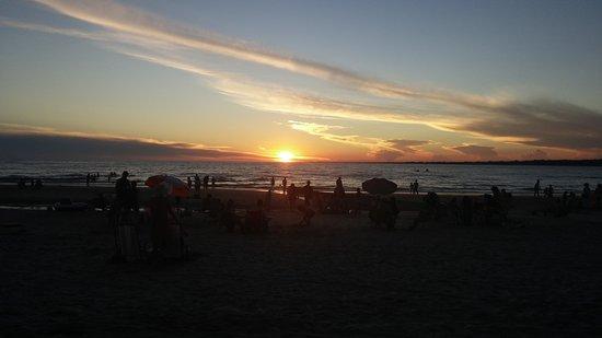 Balneario Atlantida: puesta del sol