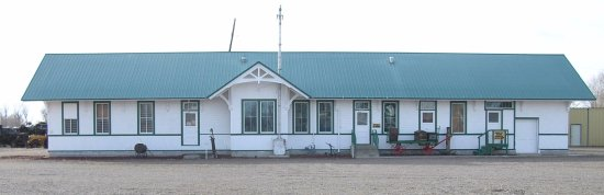 Rupert's 1906 Original Depot moved and preserved to Museum Site