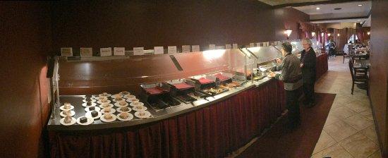 an extensive lunch VEGETARIAN buffet