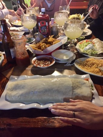 Loxley, AL: Mucho Burrito with hand for sizing