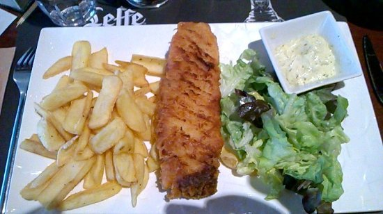 Houdemont, Francia: Fish and chips excellent