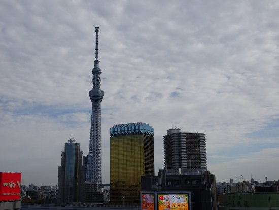 Asakusa Culture Tourist Information Center : View of Sky Tree from Observation Deck