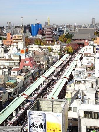 Asakusa Culture Tourist Information Center : View of Nakamise-dori