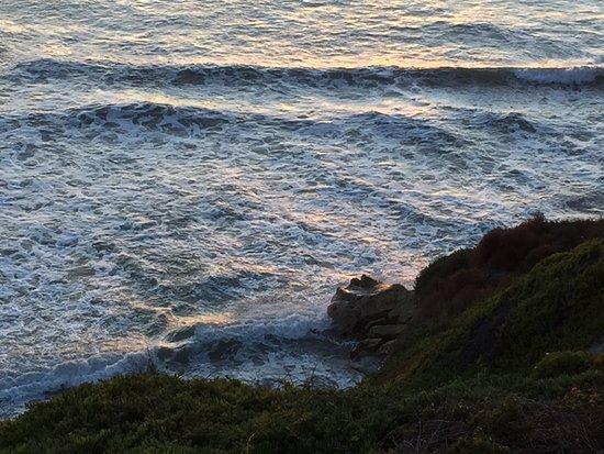Pismo Lighthouse Suites: Rocky cliff