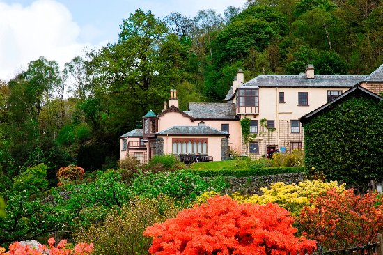 Coniston, UK: Brantwood from the lower gardens