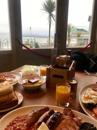 The Durley Inn Harvester: Breakfast with a view