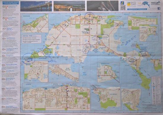Cowes, Australien: Map - Phillip Island