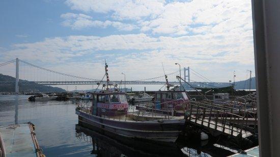 Old Shimotsui Tonya Museum : 下津井港と瀬戸大橋