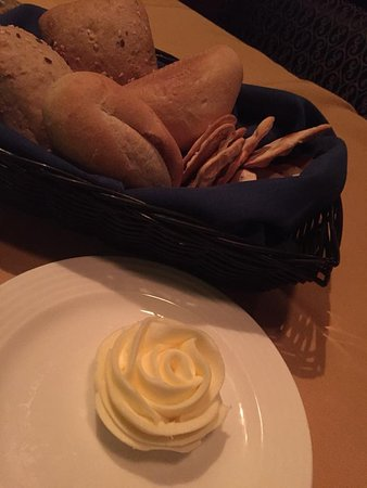 Hugo's Cellar: Charming butter rose and selection of fresh breads