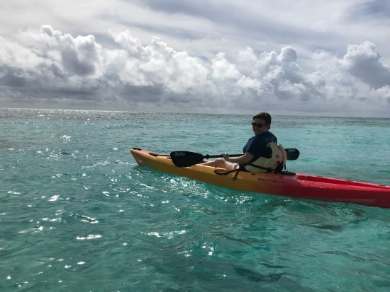 South Caicos: Kayaking out on the water