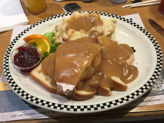 Porterville, CA: Open face turkey sandwich with potatoes & gravy