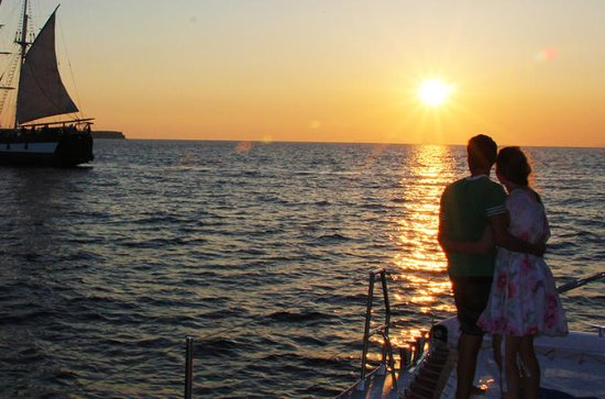 Sunset Sailing Catamaran Cruise in...