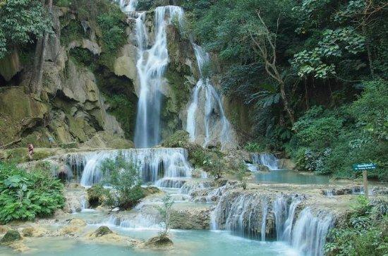 Pak Ou Caves, Xang Kong and Xang Hai village, Kuang Si Falls - Mon...