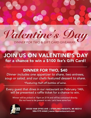 Sterling Heights, MI: Valentine's Day at Ike's