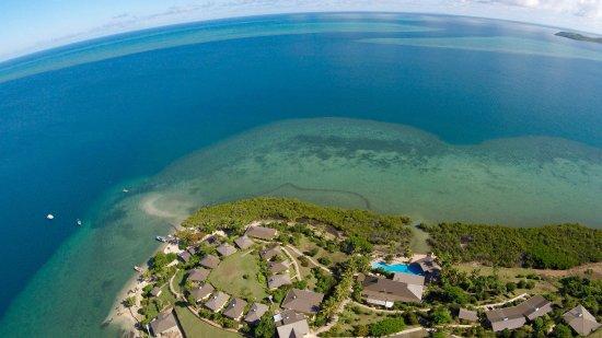 Rakiraki, Fiji: The resort over looks the Bligh Waters and surrounding reef